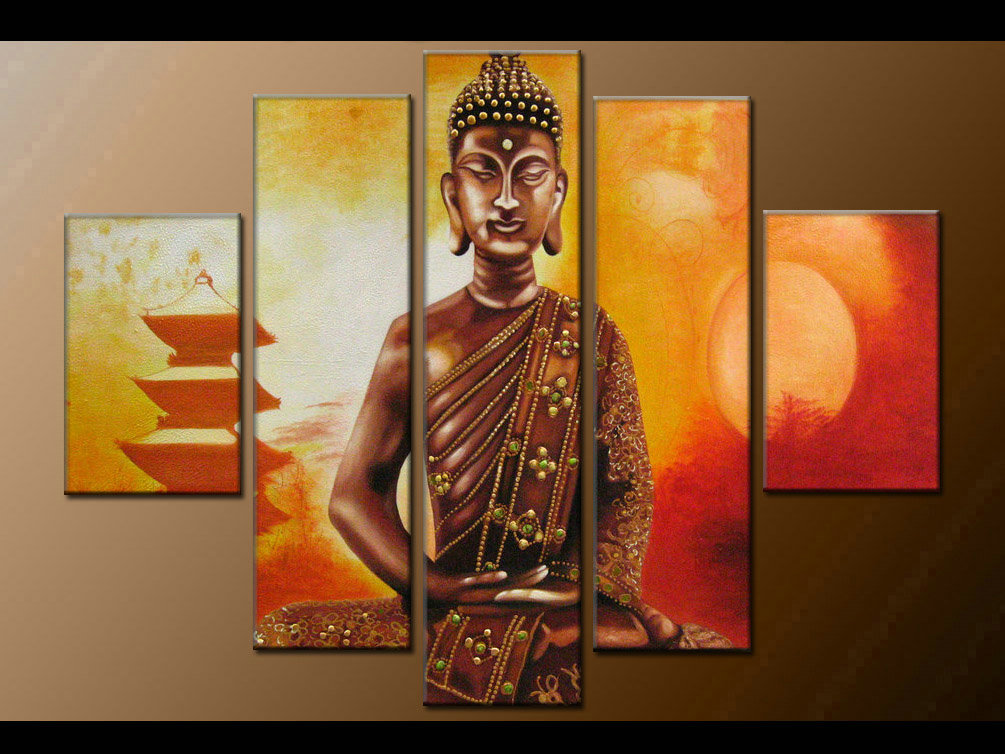 Contemporary zen art Buddha oil painting Buddha002