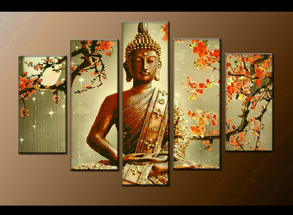 Contemporary zen art Buddha oil painting Buddha009