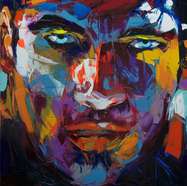 Francoise Nielly Portrait Palette Painting Expression Face067
