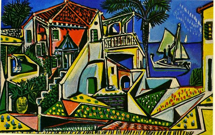 Pablo Picasso Classical Oil Paintings Mediterranean Landscape