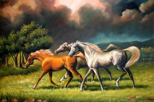 Dafen Oil Painting on canvas -horse031