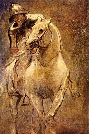 Dafen Oil Painting on canvas -horse044