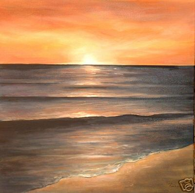 Dafen Oil Painting on canvas sunglow -set144