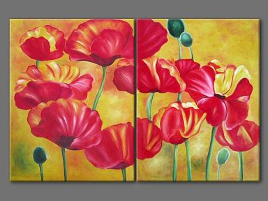 Dafen Oil Painting on canvas flower -set196